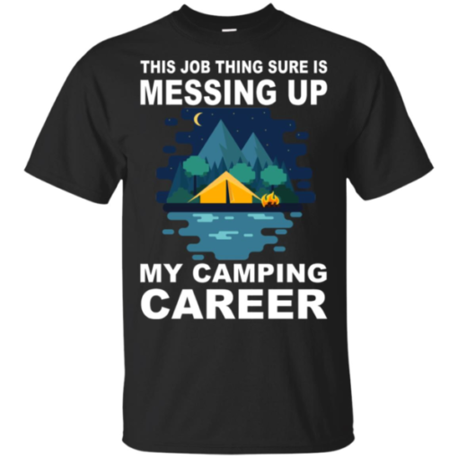 Camping Career Heavy Cotton T-Shirt