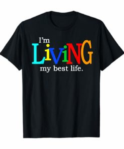 I'm Living My Best Life Heavy Cotton T-Shirt